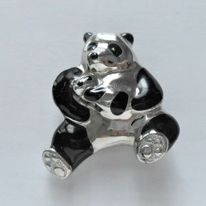 Mother and Baby Panda Brooch